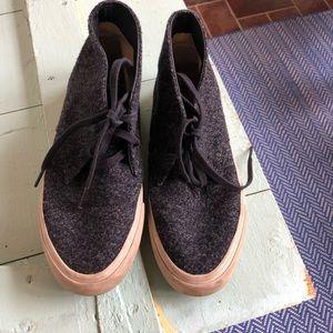 SeaVees desert boot in wool indigo. Size 8.5